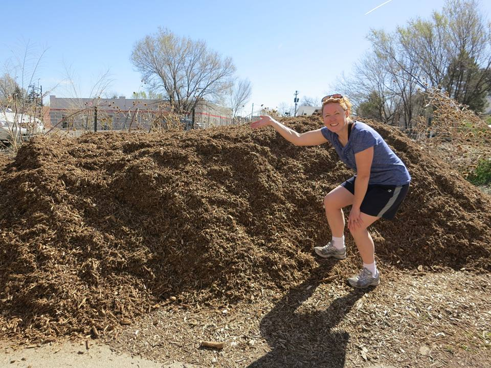 Denver Mulch donated to Community Garden