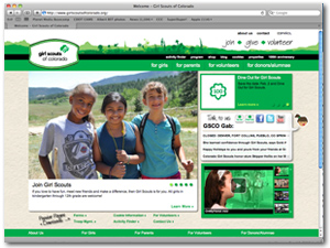 Girl Scouts Website Design