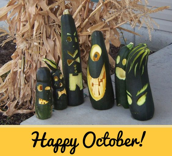 Halloween Carving - Zucchini