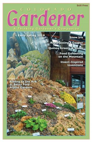 Colorado Gardener Magazine - Spring 2019 Cover