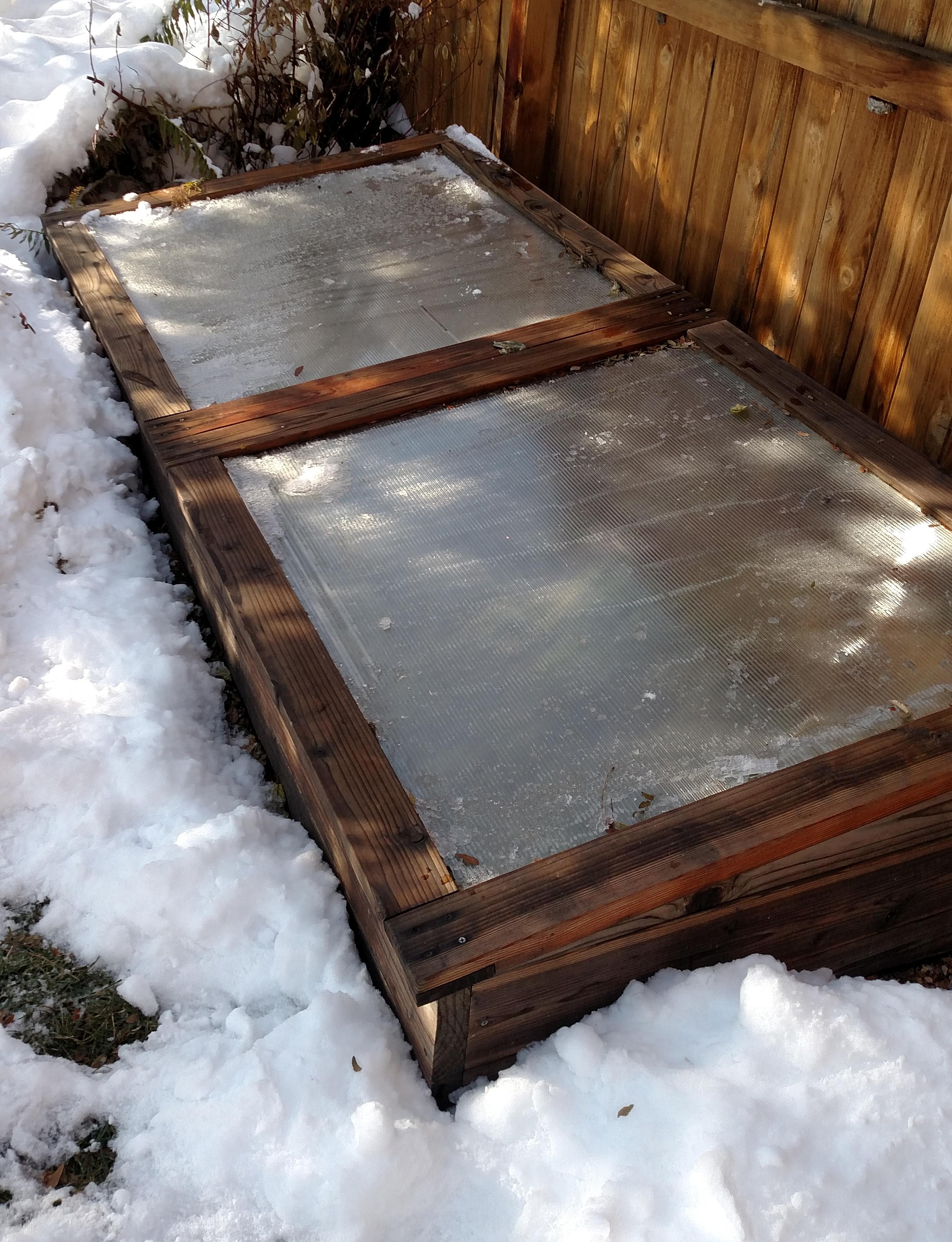 Colorado Cold Frame in the Snow