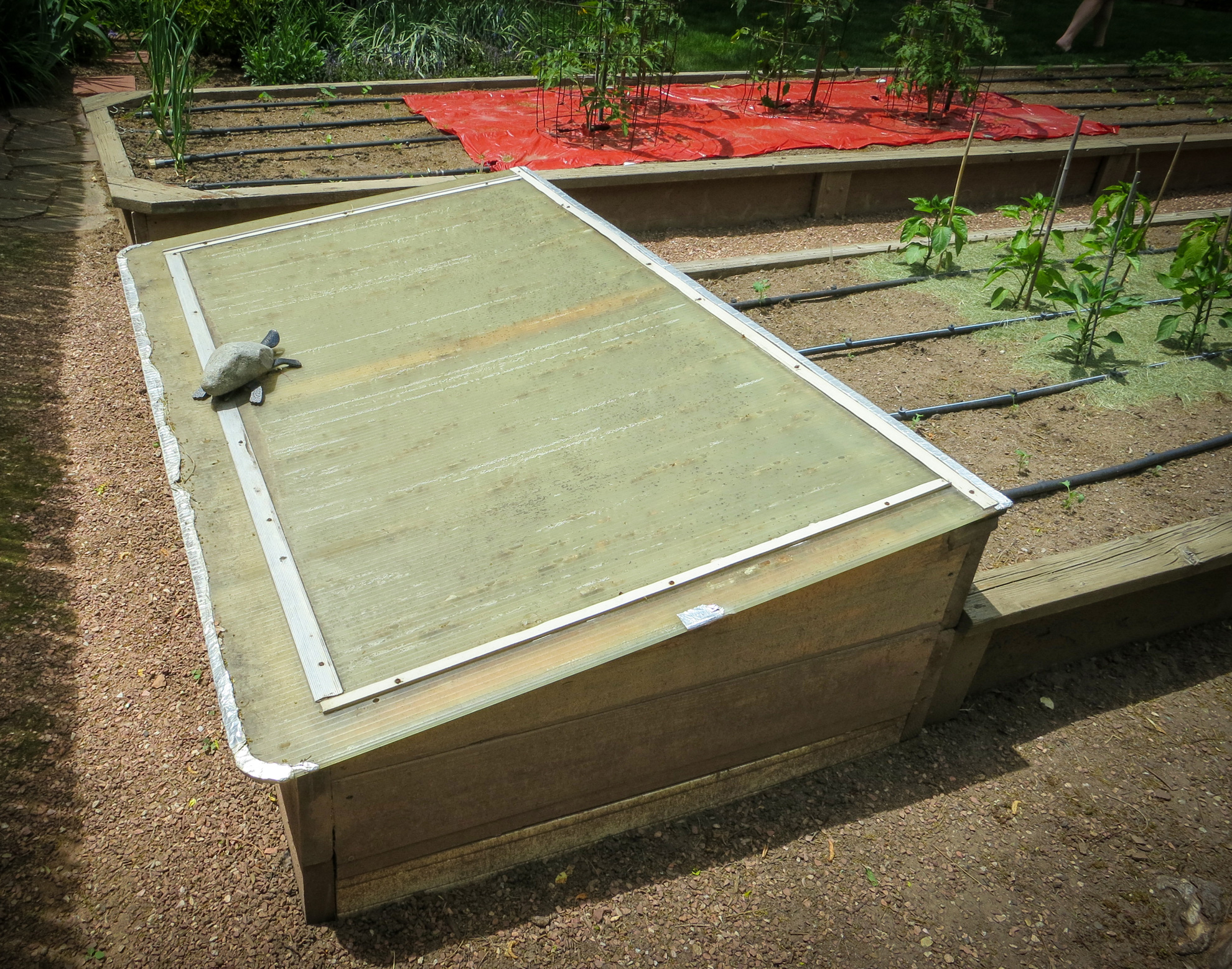 Cold frame on Denver Garden Bloggers Fling