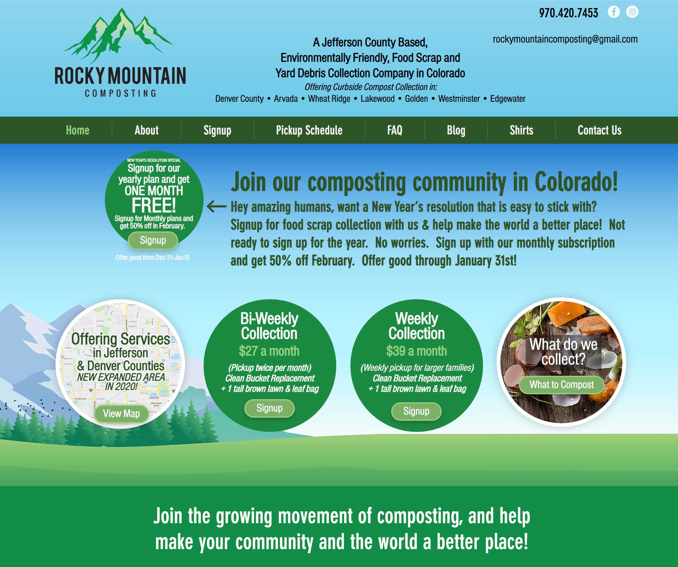 Denver Curbside Composting Company in Colorado